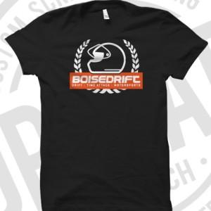 Heavyweight mens t-shirt with our classic Boisedrift logo silkscreeened